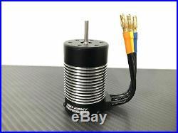1/10 4 Pole Brushless Motor Fits 3.175mm 1/10 RC Car Sensorless ESC 3660 4000KV
