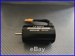 1/8 RC Brushless Motor Fits 1/8 E Buggy Truggy Sensorless Esc 3-4S 4068 2400KV