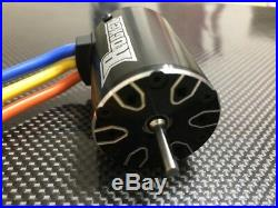 3650 7700KV 1/10 4 Pole Brushless Motor Fits Sensorless ESC 1/10 On Road RC Car