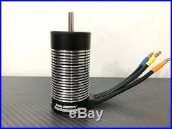 3674 2650KV 1/10 4 Pole RC Brushless Motor Fits 5mm 1/8 RC Buggy Sensorless ESC