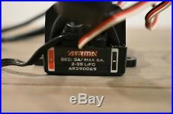 ARRMA BLX100 ESC, Brushless Motor, & Heatsink AR390069
