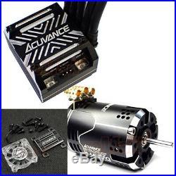 Acuvance KEYENCE Luxon Agile Brushless 10.5T Motor Black Xarvis ESC Fan #CB1152