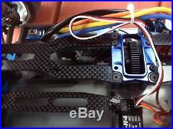 B44.3 Associated AWD LRP 17.5 Brushless Motor 120 Amp ESC Custom Paint Mint