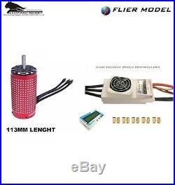 Car 12S Combo 8000W Leopard 58113 700KV 1/5 Brushless Motor + 250A ESC
