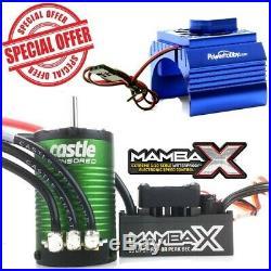 Castle Creations Mamba X 1/10 Sensored ESC 1406 4600KV Motor + Cooling Fan Blue