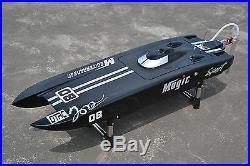 DT RC Electric Boat E32 Catamaran With Motor Servo ESC Fiber Glass Black