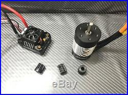 Hobbywing 1/10 Ezrun Max10 SCT 120A 3800KV Brushless ESC Motor Combo WithPinion TR