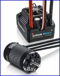 Hobbywing EZRUN MAX10-SCT 120A ESC +3660 SL G2 4000KV Brushless Motor 1/10 Car