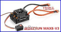Hobbywing EzRun Max8 V3 150A Brushless ESC with T-Plug / 4274 2200KV Motor / LED