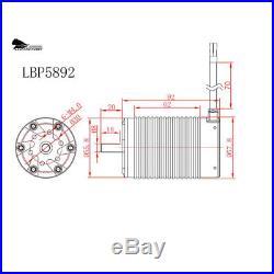 Leopard 1/5 Brushless Motor ESC Combo BL5 ESC 5892 4-Pole Motor, Card, 1340KV