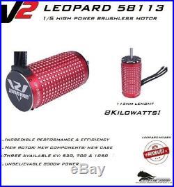 Leopard 58113 530KV 12S 1/5 Brushless Motor ztw castle xlx max5 hobbywing esc