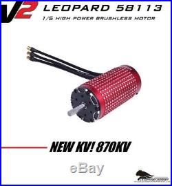 Leopard 58113 870KV 1/5 Brushless Motor xlx 2028 castle max5 ztw esc hobbywing