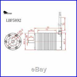 Leopard 5892 Brushless 1/5 Motor 1340KV 8S for xmaxx max5 200a esc xlx castle