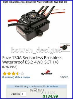 Losi Dynamite Fuze Combo 130a ESC Brushless 3800Kv Motor 10 Ten TLR Hobbywing RC