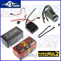 NEW Castle 1/8 Monster 2 WP ESC 2200kV Brushless Sensored Motor Combo SHIPS FREE