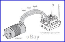 New Hobbywing MAX8 Brushless ESC Combo EzRun 2200KV Motor T-plug For 1/8