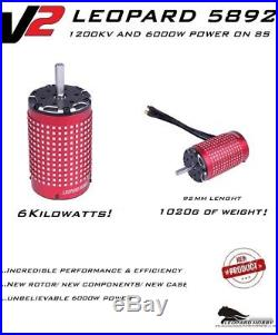 New Leopard Brushless Motor 5892 V2 1200KV 8S x-maxx xl-x max5 vxl-8 castle esc