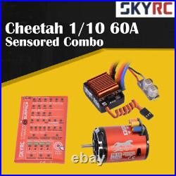 SKyRC Cheetah 1/10 60A Sensored ESC + 10.5T 3250KV Brushless Motor Program Card