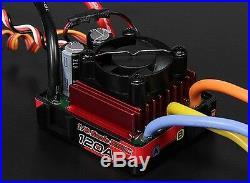 TRACKSTAR 1/8 1/10 WATERPROOF BRUSHLESS MOTOR ESC COMBO 120A 2300Kv TRAXXAS RC