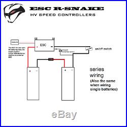 Twin ESC 150A BOAT 8S LiPo R-Snake + USB Link for 2 Brushless Motors