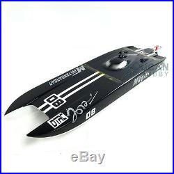 US Stock DT E32 Catamaran With Motor Servo ESC Black RC Electric Fiber Glass Boat