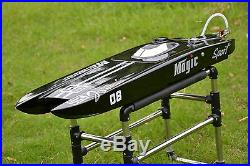 US Stock DT RC Electric Boat E32 Catamaran With Motor Servo ESC Fiber Glass Black