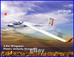 Volantex ASW28 RC RTF Plane Model With Brushless Motor Servo 30A ESC Battery 2.6M
