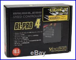 YOKBL-P4105D Yokomo Drift Spec BL-PRO4 Brushless ESC/Motor Combo Set (10.5T)